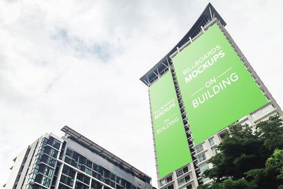 10 Billboards Mockups On Building V1