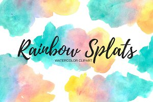 Watercolor Splash Rainbow clipart