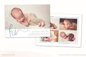 Birth Announcement Template CB121