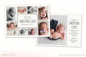 Birth Announcement Template CB115