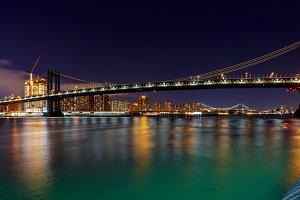 Manhattan Bridge skyline аt Night