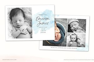 Birth Announcement Template CB113