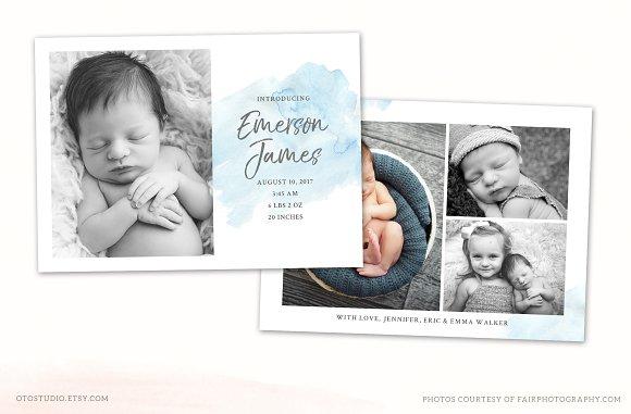 Birth Announcement Template CB113