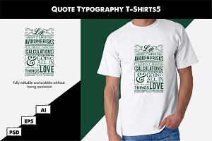 Quote Typography T-Shirts6