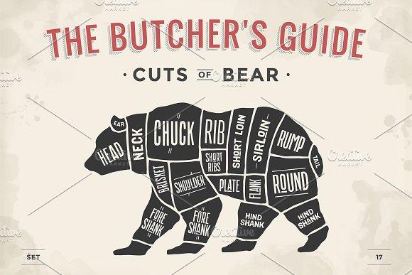 Butcher Diagram Scheme Bear