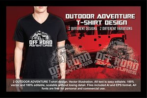 2 Off DOOR ADVENTURE T-SHIRT