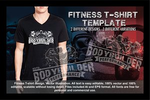 2Fitness T-Shirt Template Vol 4