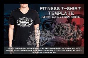 2 Fitness T-Shirt Template Vol 3