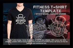 2 Fitness T-Shirt Template Vol 1