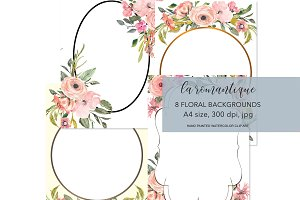 Watercolor Blush Flowers Background