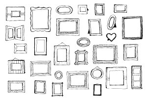 Hand-Drawn Picture Frames