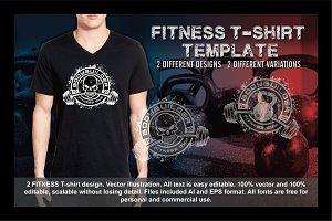 2 Fitness T-Shirt Template Vol 6