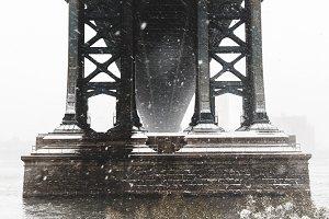 Bridge In A Snow Blizzard