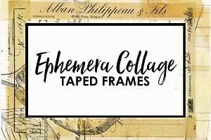 Ephemera Collage Taped Frames