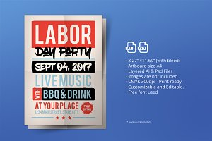 Labor Day Poster/ Flyer 01