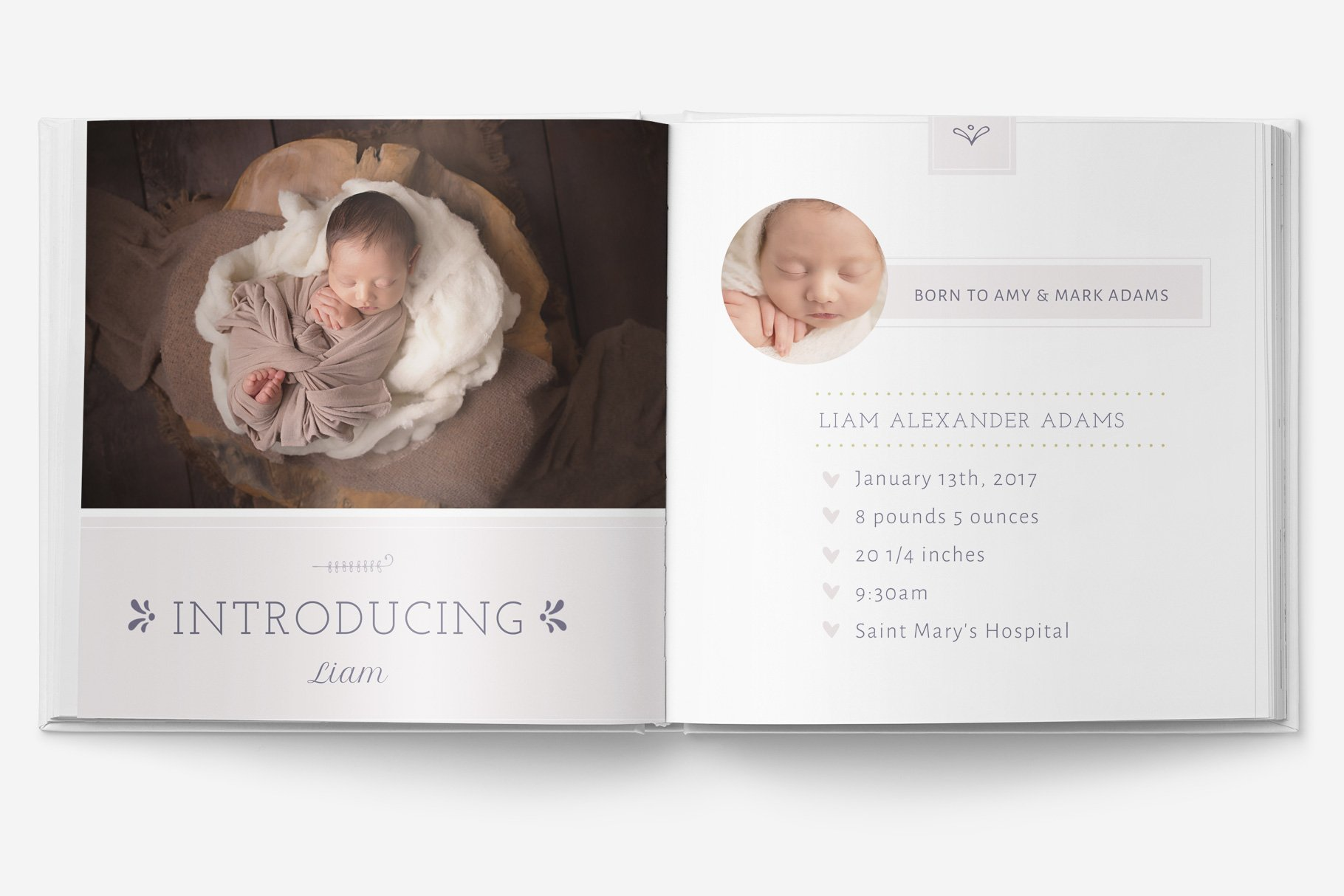 Baby Album Template Photos Graphics Fonts Themes Templates