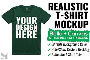 Bella+Canvas Triblend T-Shirt Mockup