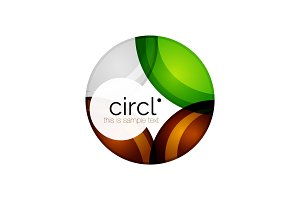 Clean professional colorful circle business icon