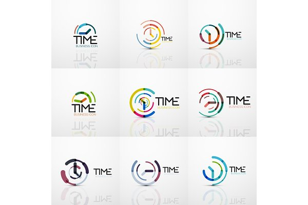 Collection of vector abstract logo…