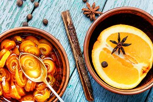 Delicious orange jam.Citrus jelly