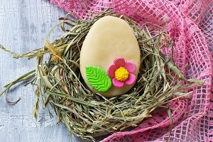 Easter cookie in shape of egg