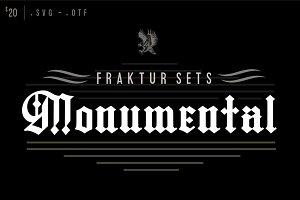 Fraktur Sets - Fonts & Flourishes