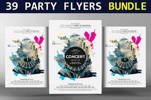 39 Party Flyers Bundle