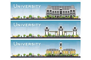 Set of University Study Banners.