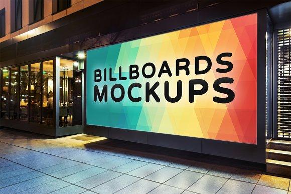 12 Billboards Mockups At Night Vol.2