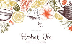 Vector Tea Illustrations Set