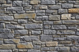 Grey tiled stone wall