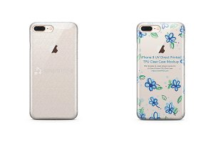 Apple iPhone 8 PlusUV PC Clear Case