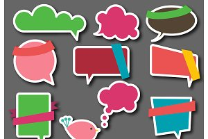 Speech Bubbles Vectors and Clipart