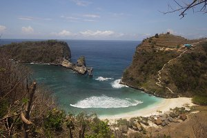 Tropical beautiful beach. Nusa Penida