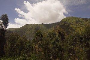 Mountain landscape.Jawa island, Indonesia.