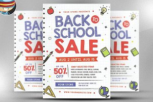 Back to School Sale 2 Flyer Template