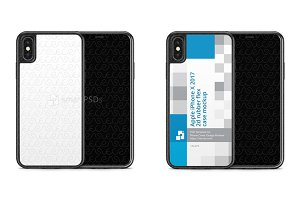 iPhone X 2d Rubber Flex Mobile Case