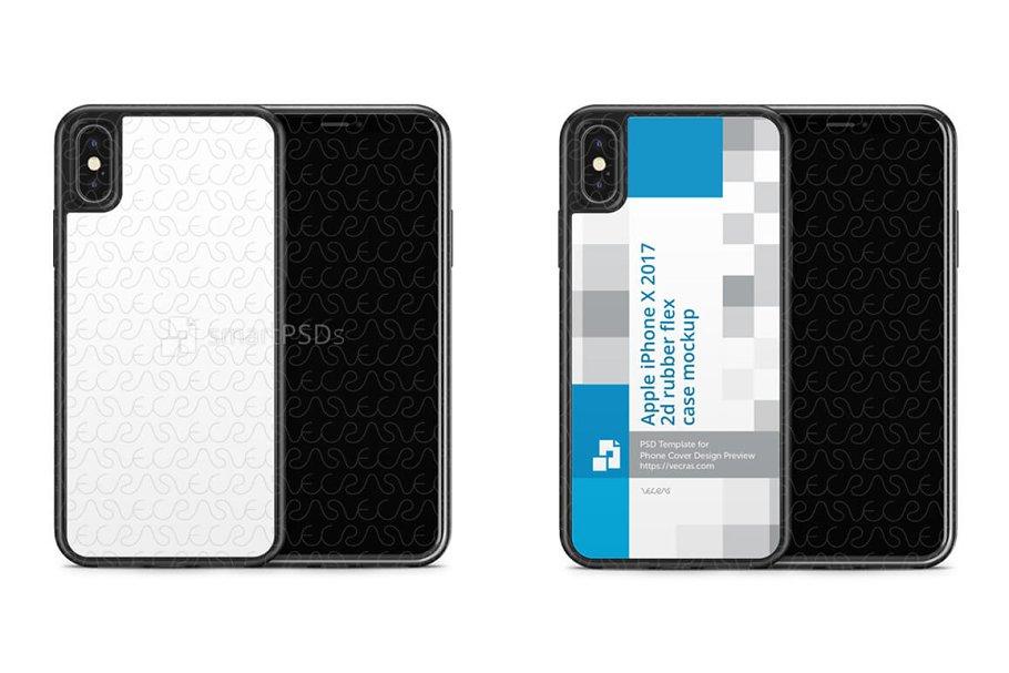 reputable site 04f55 9554e iPhone X 2d Rubber Flex Mobile Case