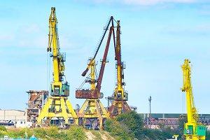 Industrial transport port on Danube