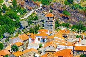 view of Monsanto village Portugal