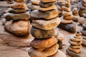 Stones Pyramid Symbolizing Harmony