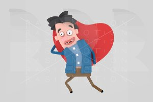 Man holding big heart