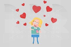 Woman having many app love matches