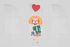 Woman having app love match