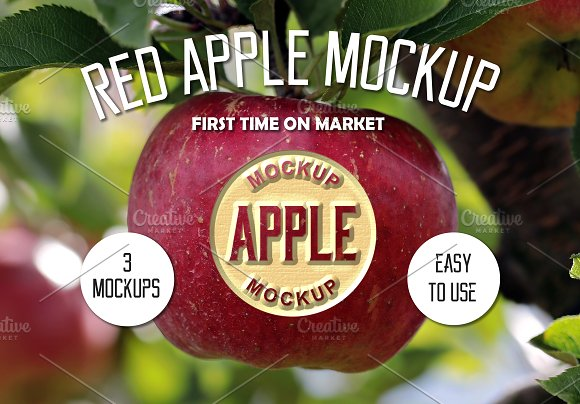 Red Apple Mockup