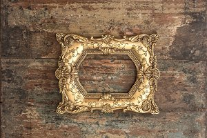 Baroque golden frame