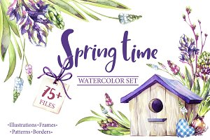 """Spring Time"" watercolor collection"