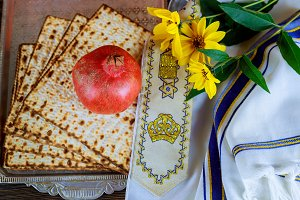 Jewish Holiday symbol, jewish food