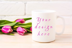 White coffee mug mockup