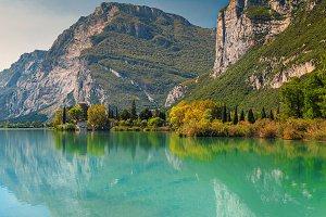 Lake Toblino in Italy